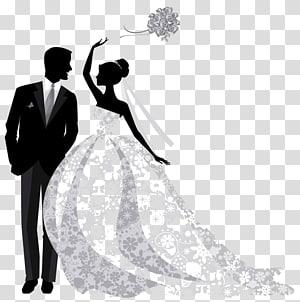 Wedding invitation Bridegroom graphics, bride PNG
