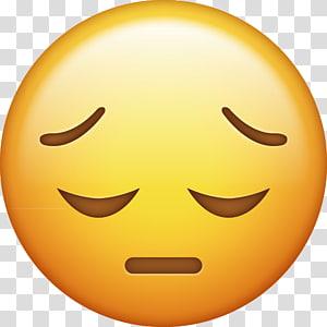 iPhone Emoji Sadness Smiley, emoji PNG
