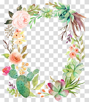 delicate floral wreath PNG clipart