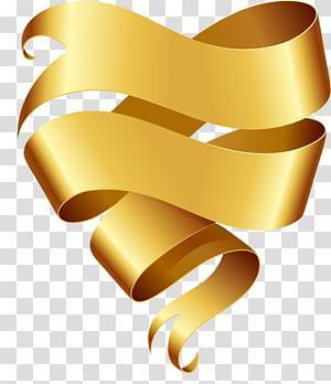 gold ribbon , Ribbon Banner , Yellow Ribbon PNG clipart