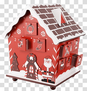 Gingerbread house Advent calendar Christmas, box PNG clipart