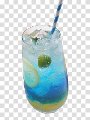 cool blue curacao soda PNG
