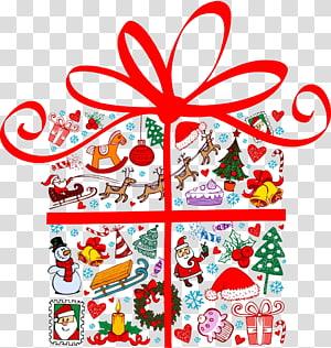 Santa Claus Christmas gift Christmas gift, Christmas gift PNG clipart