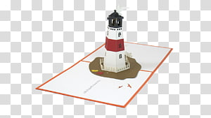 Greeting & Note Cards Paper Christmas card Pop-Up Greeting Cards, lighthouse christmas PNG clipart