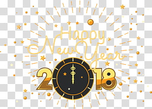 2018 Happy New Year , New Year\'s Day New Year\'s Eve Steemit Wish, Originality 2018 PNG clipart