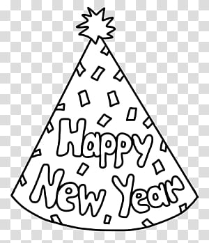 New Year\'s Day New Year\'s Eve Party hat Coloring book, Happy New Year PNG clipart