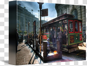 Tram Railroad car San Francisco cable car system Rail transport Iron Maiden, Say Cheese PNG clipart