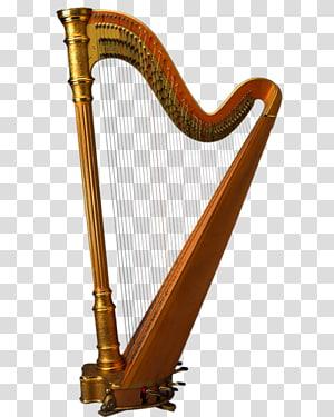 classical harp PNG