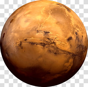 brown planet illustration, Earth Moons of Mars Planet Valles Marineris, mars planet PNG clipart