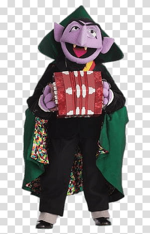 Count Von Count illustration, Sesame Street Count Von Count Music PNG