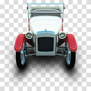 white and red scale model, classic car automotive exterior antique car, Dixie PNG clipart