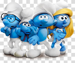 Hefty Smurf Brainy Smurf Smurfette Clumsy Smurf Papa Smurf, others PNG