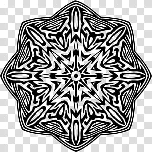 Graphic design Pattern, mandala contour PNG