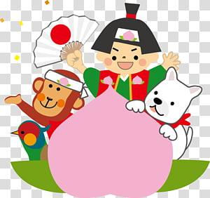 Momotarō Kojiki Momotaro Shrine Legend 昔話, Dog illust PNG clipart