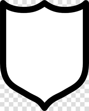 white and black shield , Crest , Free Shield PNG