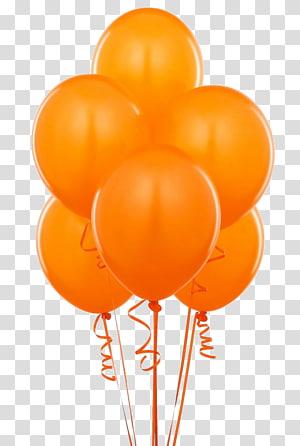 Balloon Orange Birthday Amazon.com , balloon PNG