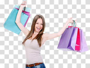 Shopping Bags & Trolleys Evening gown Woman, bag PNG