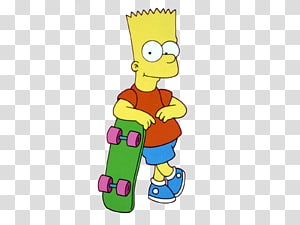 Bart Simpson Homer Simpson Marge Simpson The Simpsons Skateboarding Krusty the Clown, Bart Simpson PNG clipart