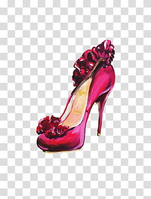 High-heeled footwear Shoe Fashion Pink Illustration, Pink high heels PNG clipart