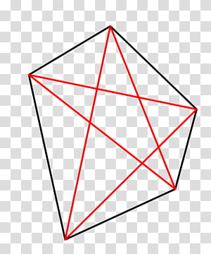 Triangle Polygon Pentagon Diagonal, triangle PNG