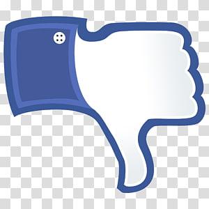 Social media Facebook Like button Thumb signal Blog, THUMBS DOWN PNG clipart