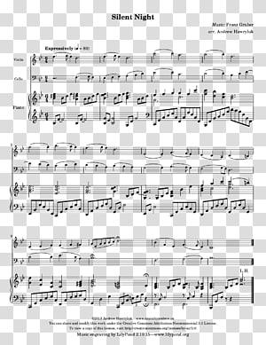 Sheet Music Cello Piano duet, sheet music PNG clipart