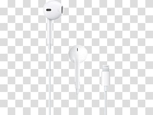 Headphones Apple earbuds Lightning Microphone, headphones PNG
