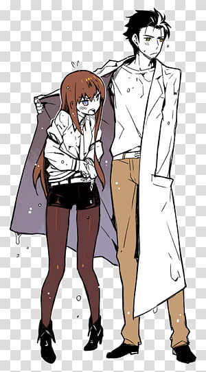 Rintarou Okabe Steins;Gate Kurisu Makise Mayuri Shiina Anime, Anime PNG