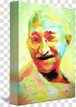 Mahatma Gandhi Visual arts Painting Nonviolence, mahathma gandhi PNG