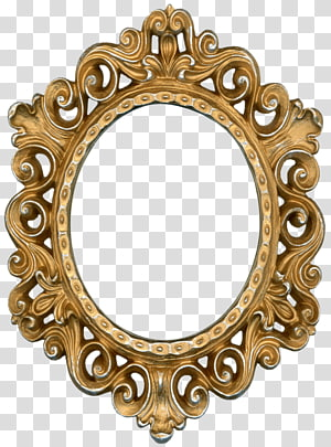 gold-colored ornamental metal frame, Frames Borders and Frames Antique Vintage clothing , arabesco PNG clipart