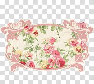 Rosa rubiginosa Textile Paper Wall , vintage label PNG clipart