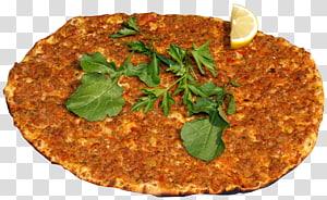 sliced lemon , Pizza Turkish cuisine Lahmajoun Doner kebab, A pizza PNG clipart