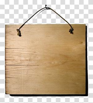 brown hanging signage, Wood Illustration, Wood block tag creatives PNG