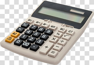 white and black desk calculator, Vintage Calculator PNG clipart