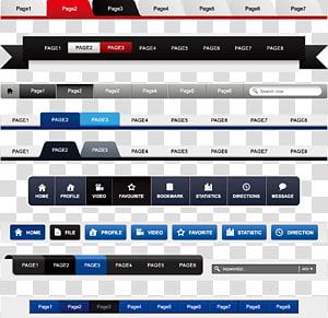 Navigation bar Web design Menu Web navigation Website, Web design elements PNG clipart