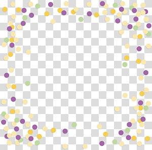Point Polka dot Pattern, Color wave border PNG clipart