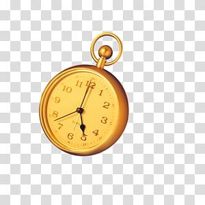 Alarm clock, Pocket watch PNG