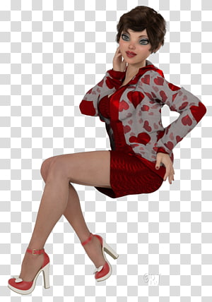 Costume Pin-up girl Fashion Maroon Shoe, June Shannon PNG clipart