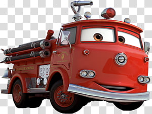 Disney Cars Red illustration, Cars Lightning McQueen Mater Doc Hudson Character, Lightning McQueen PNG