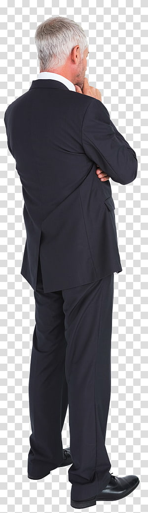 Tuxedo M. Costume Business Outerwear, old man back PNG clipart