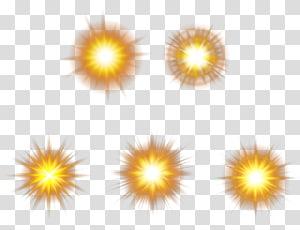Light Orange Euclidean Halo, Orange light effect material PNG clipart