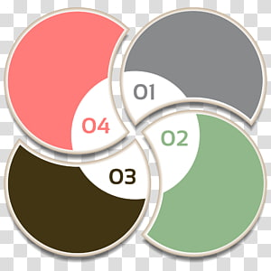 four propeller-shaped assorted-color illustration with numbers, Health Care Illustration, PPT element PNG clipart