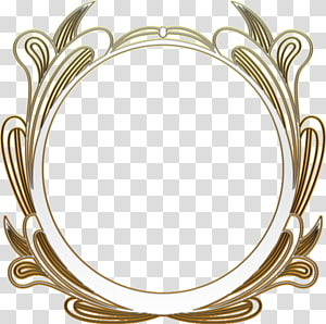 round white and gold-colored frame illustration, frame Film frame, Round Frame PNG clipart