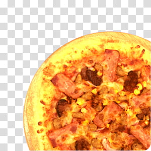 Sicilian pizza Hamburger Bacon Cheese and onion pie, Cheese Pizza PNG clipart