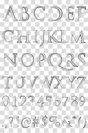 cartoon alphabet PNG