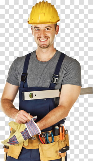 man wearing handyman tool and hard hat, Tool Architectural engineering Construction worker Building, industrail workers and engineers PNG