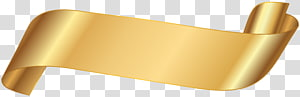 gold ribbon, Paper Banner , gold ribbon PNG