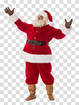 red clothes santa claus PNG clipart