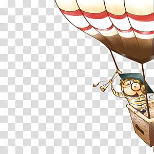 Travel Cartoon Balloon Illustration, Helium balloon PNG clipart