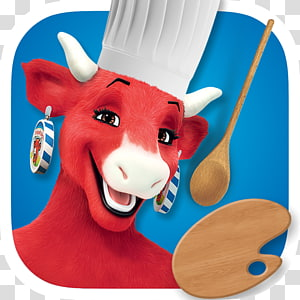 The Laughing Cow Cattle Cheese Advertising, put into it PNG clipart